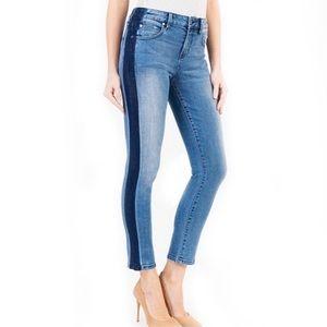 NWT Anthropologie Level 99 Side Stripe Jeans Sz 29
